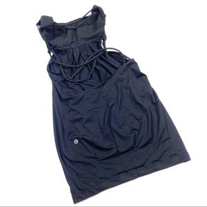Lululemon black size 4 open back strapless top